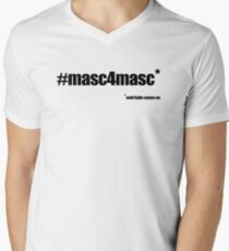 #masc4masc black text - Kylie Men's V-Neck T-Shirt
