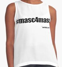 #masc4masc black text - Kylie Sleeveless Top