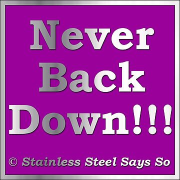 Never Back Down - Stainless Steel Says So by StainlessSteelS