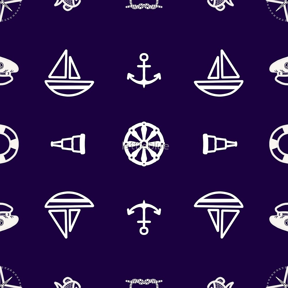 Nautical Pattern I by lettieblue