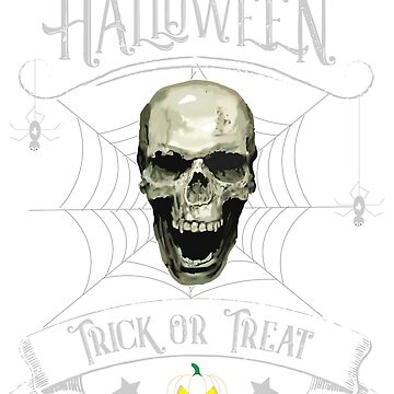 Happy Halloween, Trick or Treat, Skull, Spider by matches1