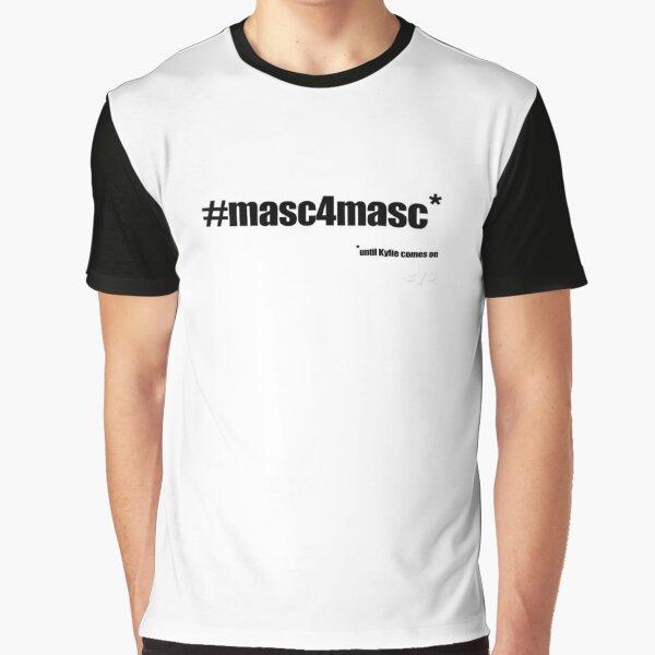 #masc4masc black text - Kylie Graphic T-Shirt