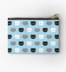 Cute Cats & Kawaii Kittens (Blue) Studio Pouch