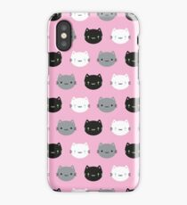 Cute Cats & Kawaii Kittens (Pink) iPhone Case