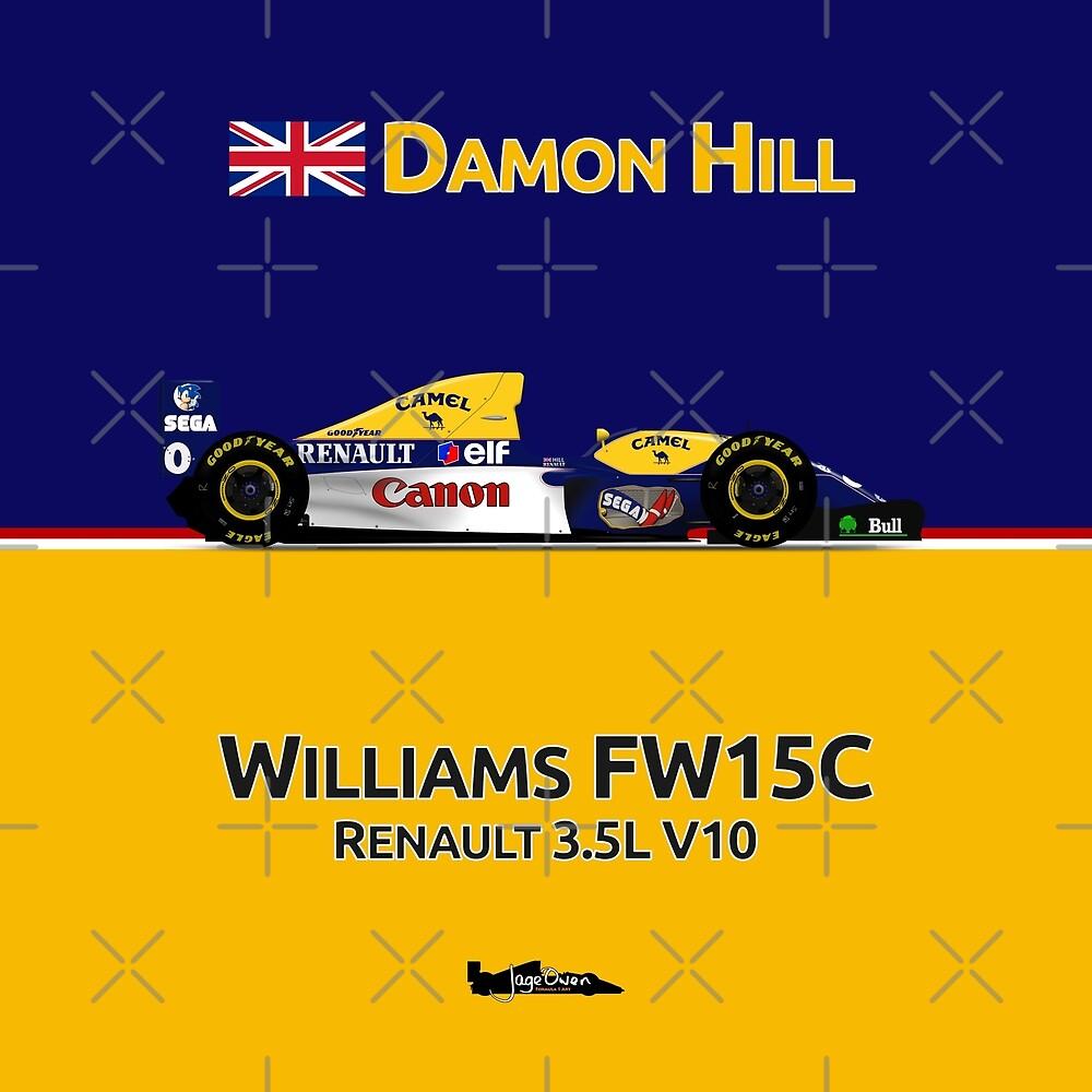 Formula 1 - Damon Hill - Williams Renault FW15C by JageOwen