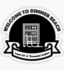 Dimmer Beach Sticker