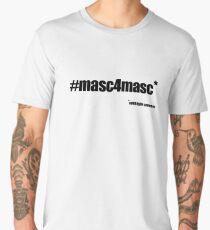 #masc4masc black text - Kylie Men's Premium T-Shirt