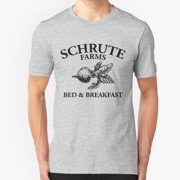 Schrute Farms - Bed and Breakfast - Logo - The Office Slim Fit T-Shirt