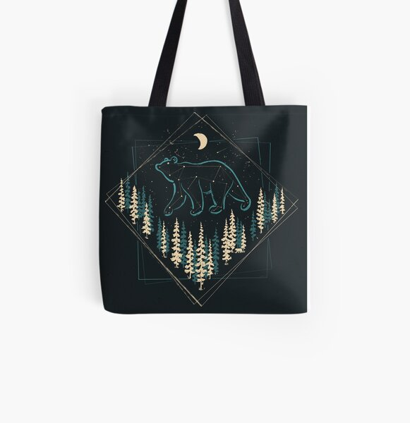 The Heaven's Wild Bear All Over Print Tote Bag