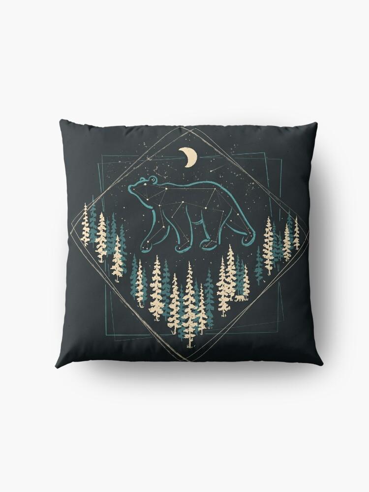 Alternate view of The Heaven's Wild Bear Floor Pillow