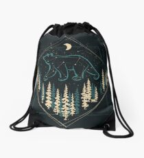The Heaven's Wild Bear Drawstring Bag