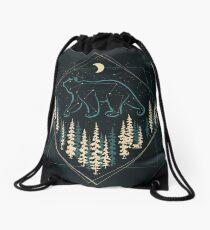 The Heaven's Wild Bear Drawstring Bag