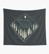 The Heaven's Wild Bear Wall Tapestry