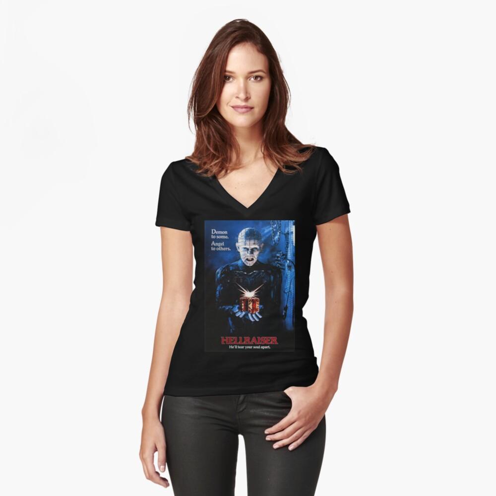 Hellraiser Women's Fitted V-Neck T-Shirt Front