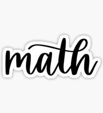 Math - Folder/Binder sticker  Sticker