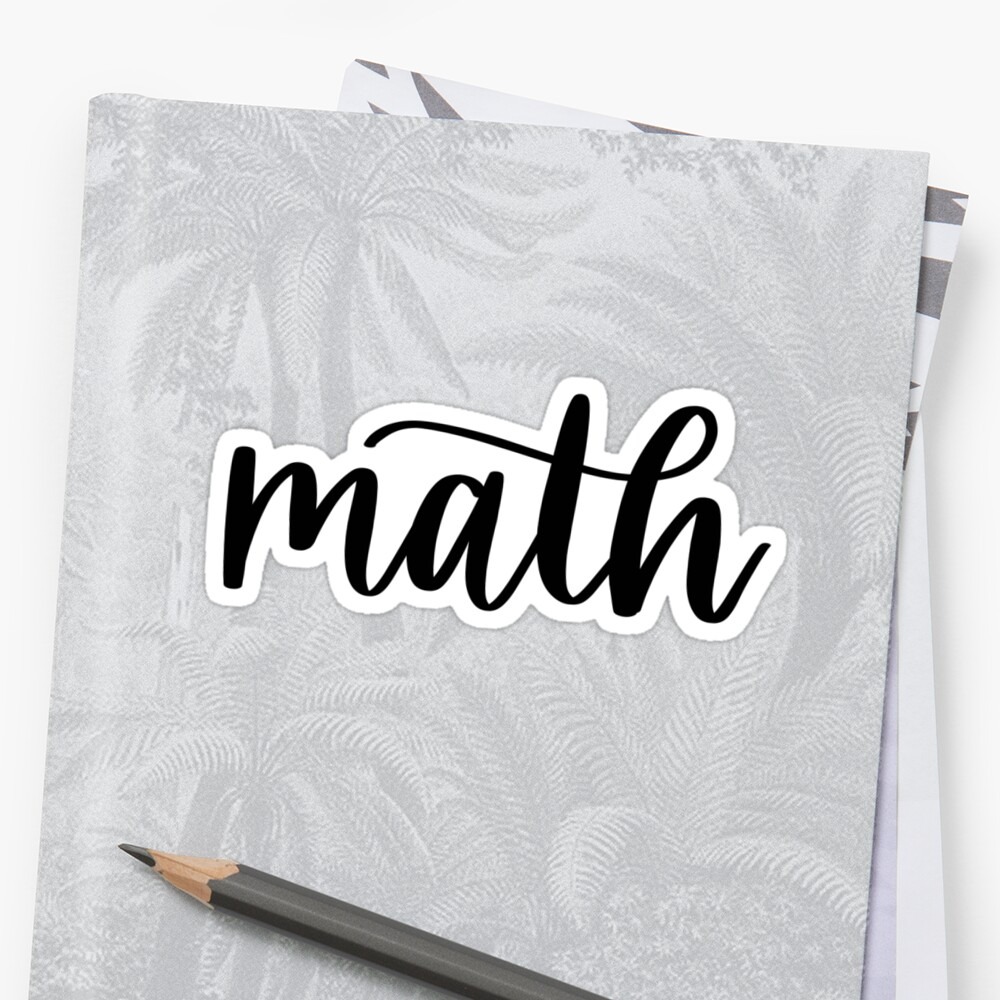 Math - Folder/Binder sticker  by RT-Lettering