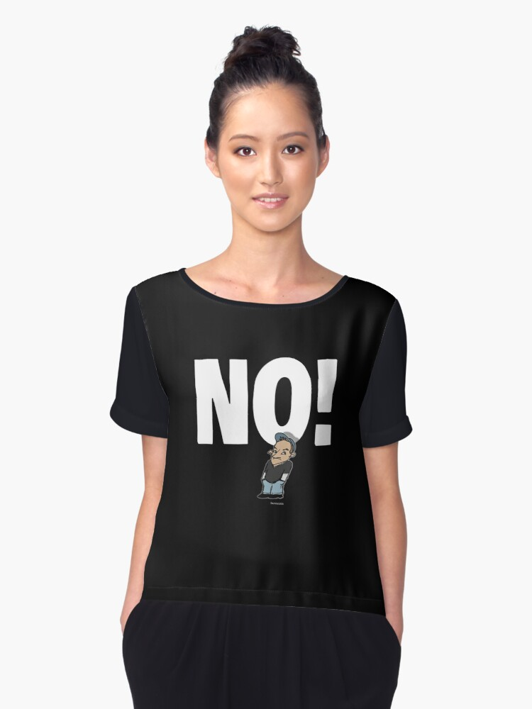 No! no.1 white Women's Chiffon Top Front