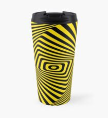 Op-Art Rad Rectangles in Gold Travel Mug