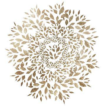 Gold Leaves Mandala by elenor27
