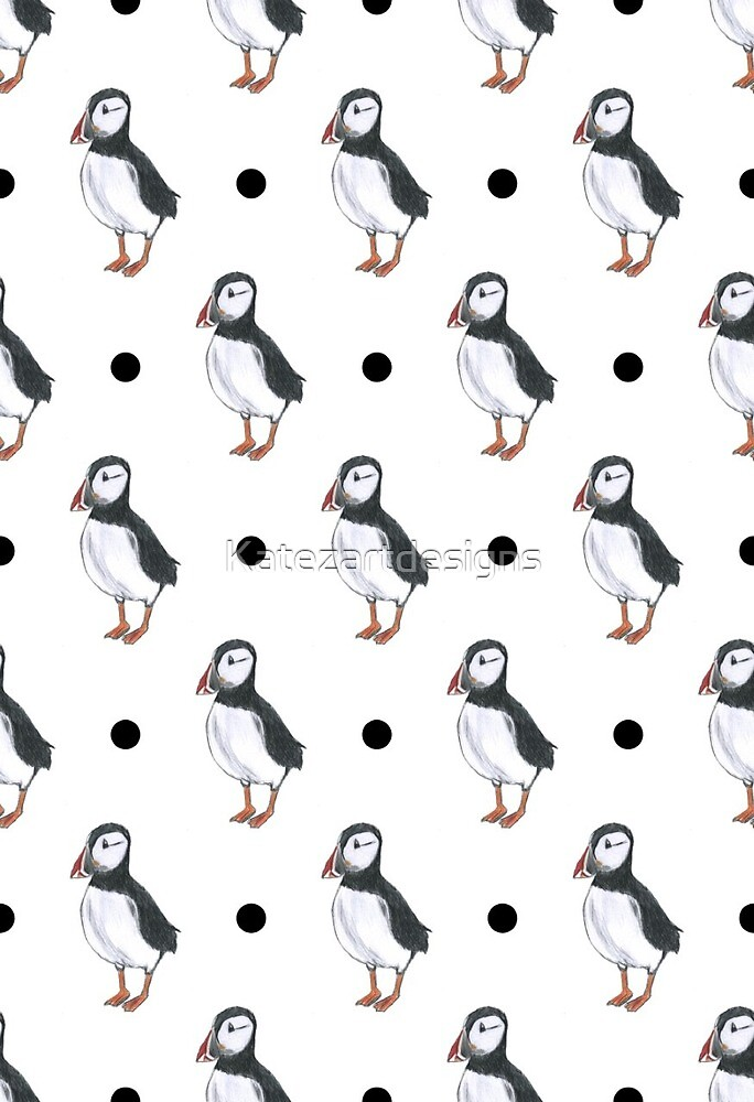 puffin birds, puffins, for puffin lovers by Katezartdesigns