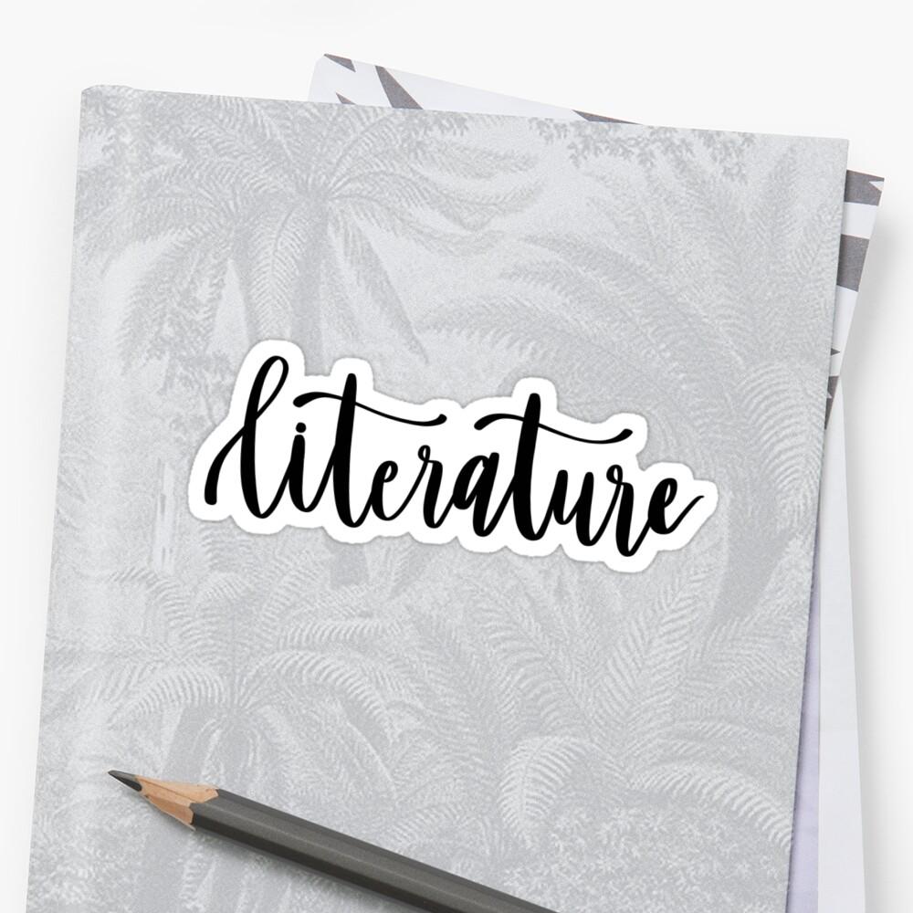 Literature - Folder/Binder Sticker  by RT-Lettering