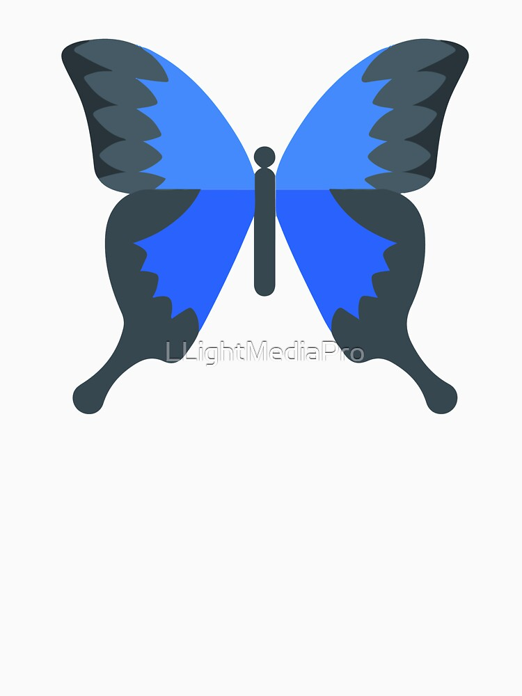 Butterfly - Blue and Black by LLightMediaPro