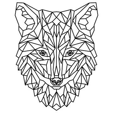 Fox Wolf Dog Geometric as Geometric by FrediWicht