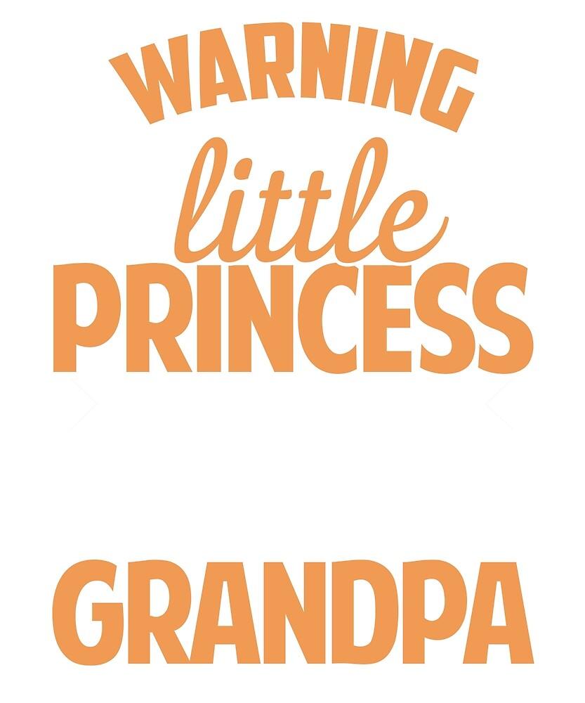 I'm a little princess of a crazy grandpa t shirt by BlueShop