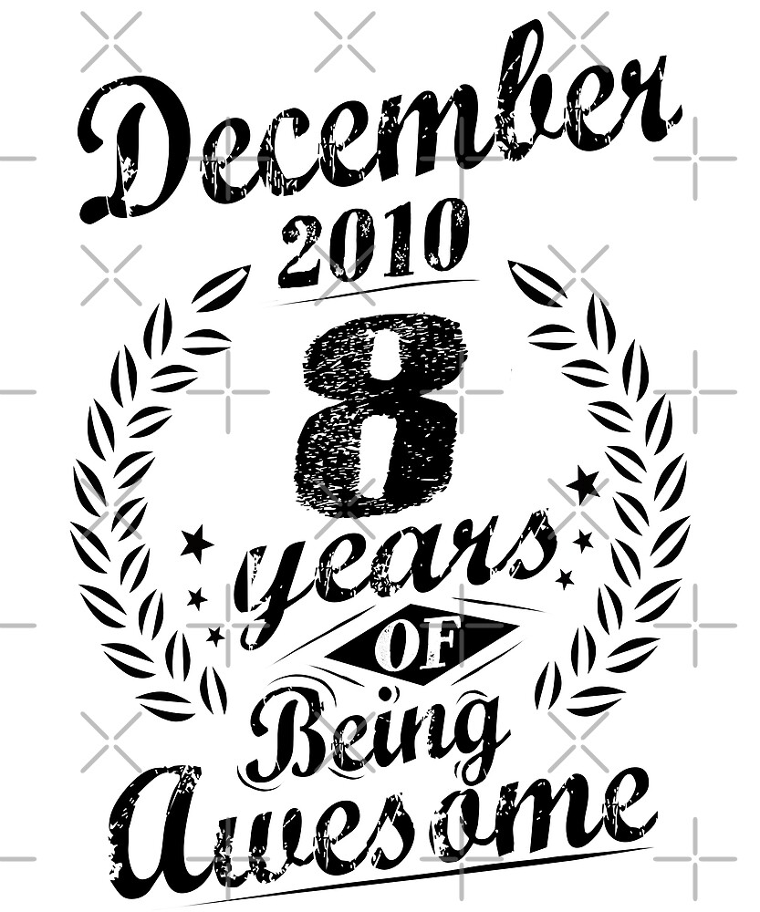 December 2010 8 Years of Being Awesome 8th Birthday by SpecialtyGifts