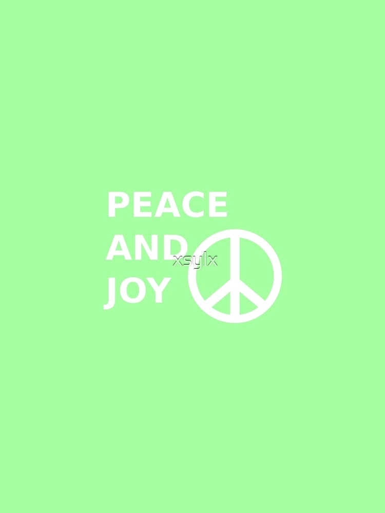 peace and joy quote with peace saying graphic by xsylx