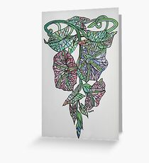 Stained Glass Morning Glory September Birth Flower Greeting Card