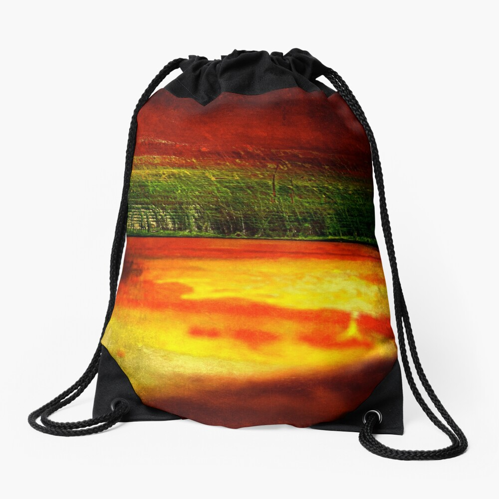 Horizontal Rainbow Drawstring Bag