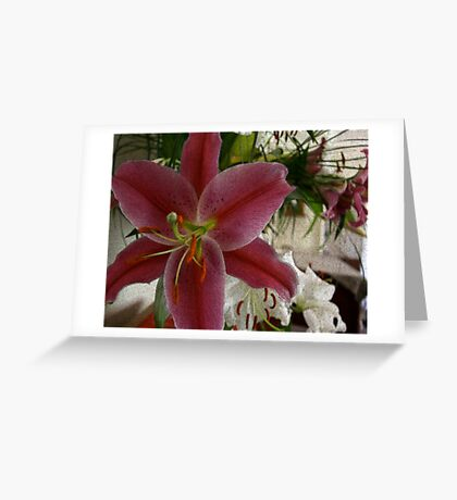 Grunge Lily Greeting Card