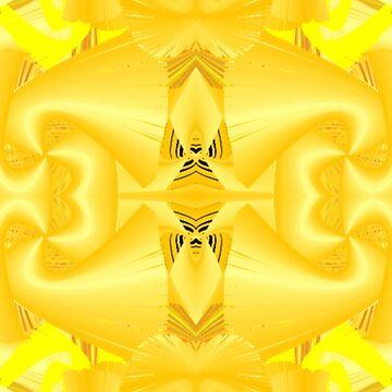 Going Wild With Yellow Swirls by Charldia