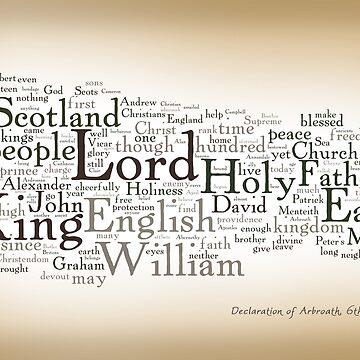 Declaration of Arbroath by Wordigrams