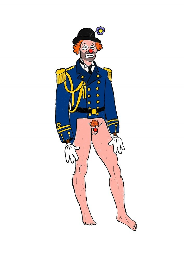 Sad Half Naked Clown by AssassinTuna