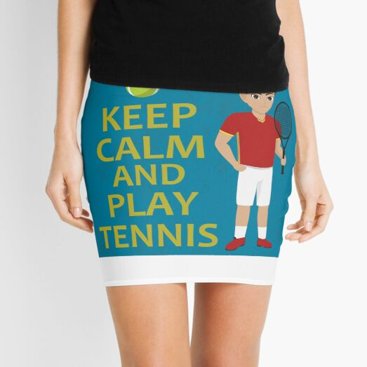 Funny design for tennis fans Mini Skirt
