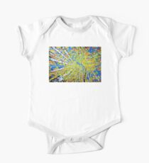 Calming Canopy Aspen Quaking Colorado Sky Autumn Colorful Rocky Mountains Western Tree Trees Jackie Carpenter Art Fall  One Piece - Short Sleeve