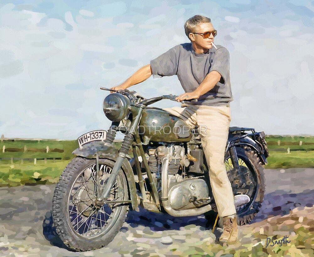 """Steve McQueen - Oil on Canvas Painting 3 """"The Cooler King"""" by Denis Smyth"""