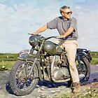 "Steve McQueen - Oil on Canvas Painting 3 ""The Cooler King"" by ROADTROOPER"
