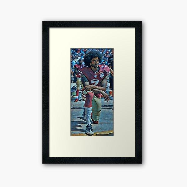 Colin Kaepernick Kneeling Framed Art Print
