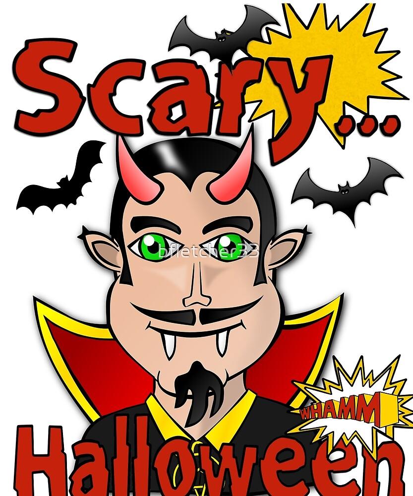 scary Halloween vampire design by bfletcher33
