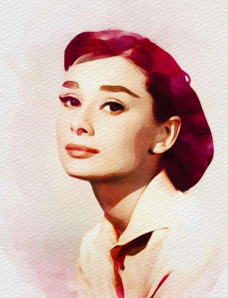 Audrey Hepburn, Vintage Actress by SerpentFilms