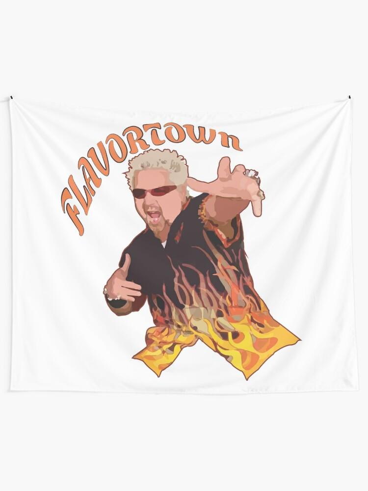 Alternate view of Guy Fieri Flavortown Tapestry