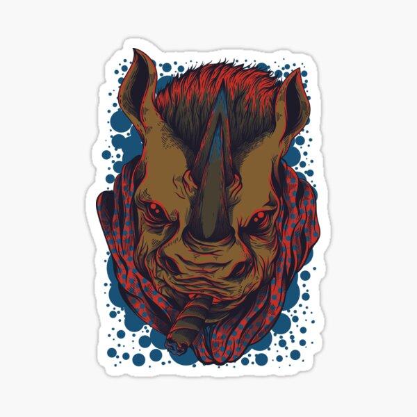 cool rhino Sticker