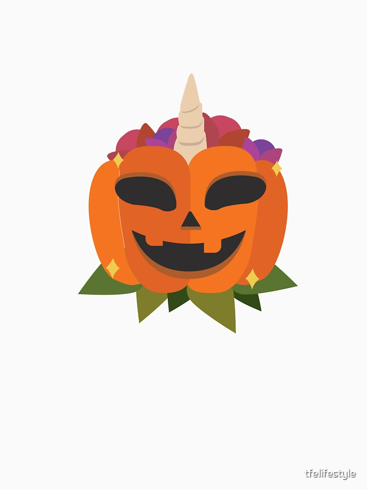 Hollow Smiling Unicorn Pumpkin for Halloween  by tfelifestyle