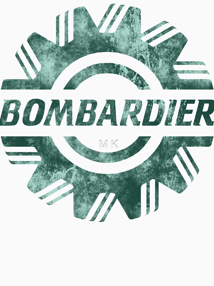 Distressed Bombardier Logo Print by Moiza