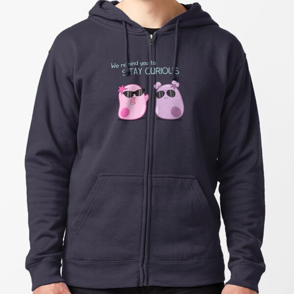 Stay Curious! with the Amoeba Sisters Zipped Hoodie