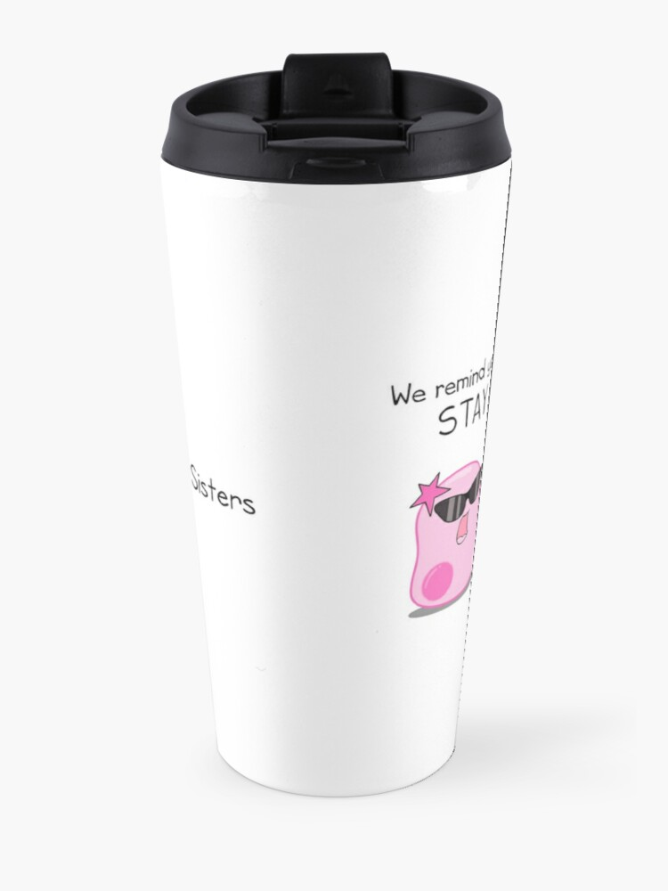 Alternate view of Stay Curious! with the Amoeba Sisters Travel Mug