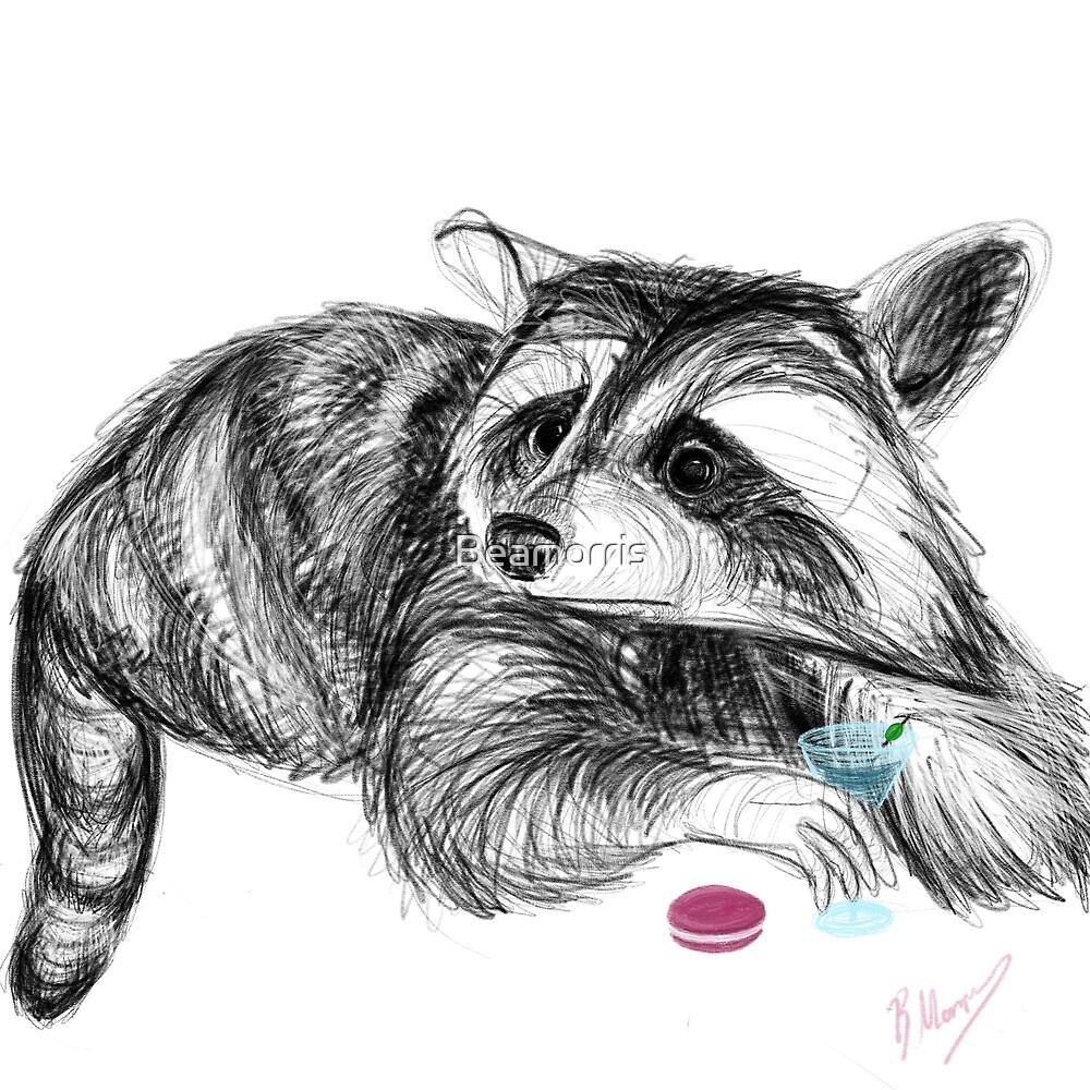 Raccoons love their macaroons  by Beamorris
